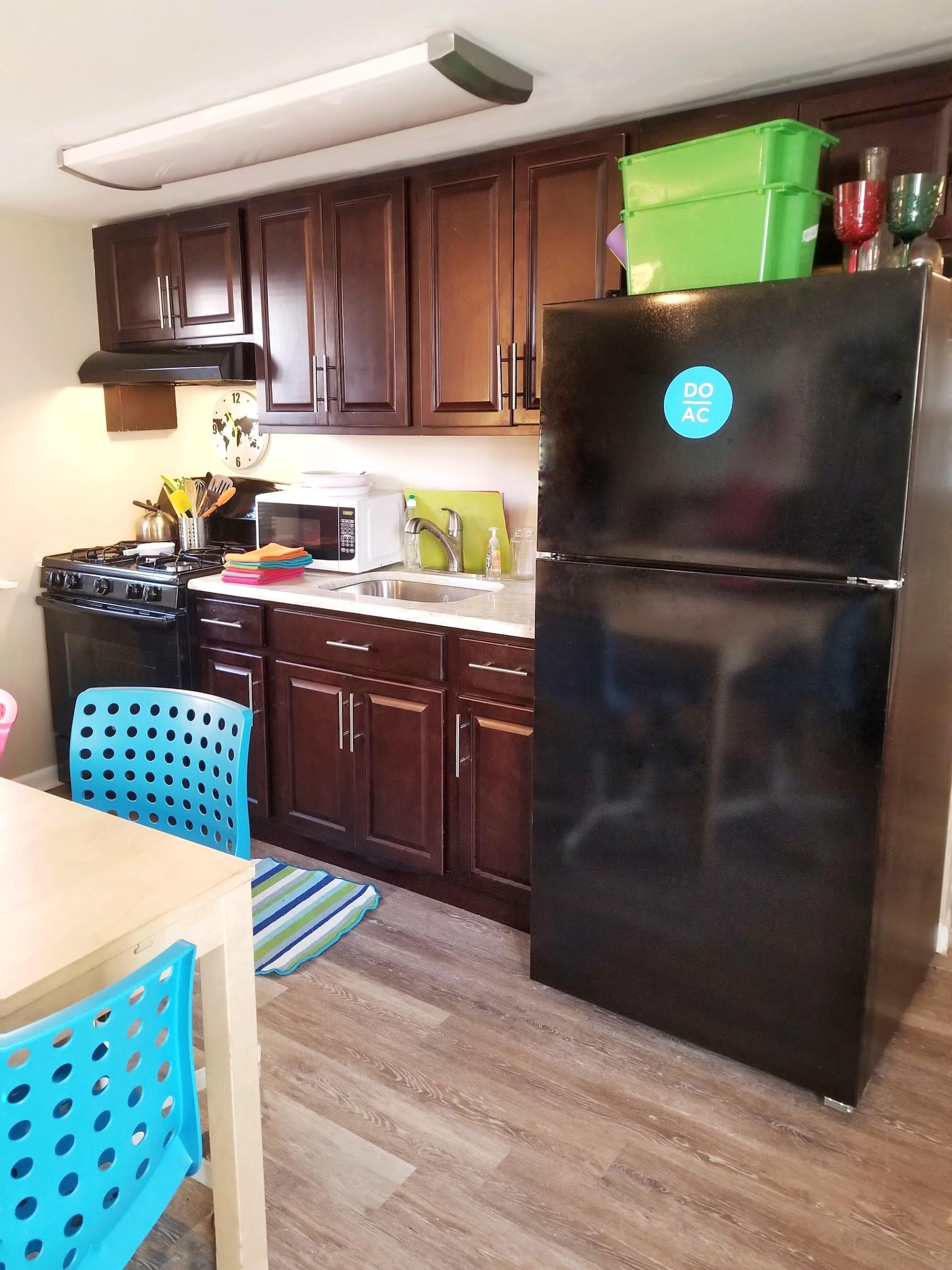 Fully furnished kitchen to reheat snacks after a long at the beach at City House Atlantic City