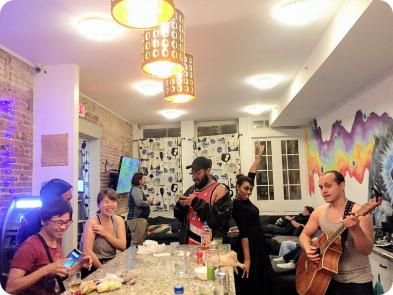 Free nightly happy hour City House Hostel Philadelphia