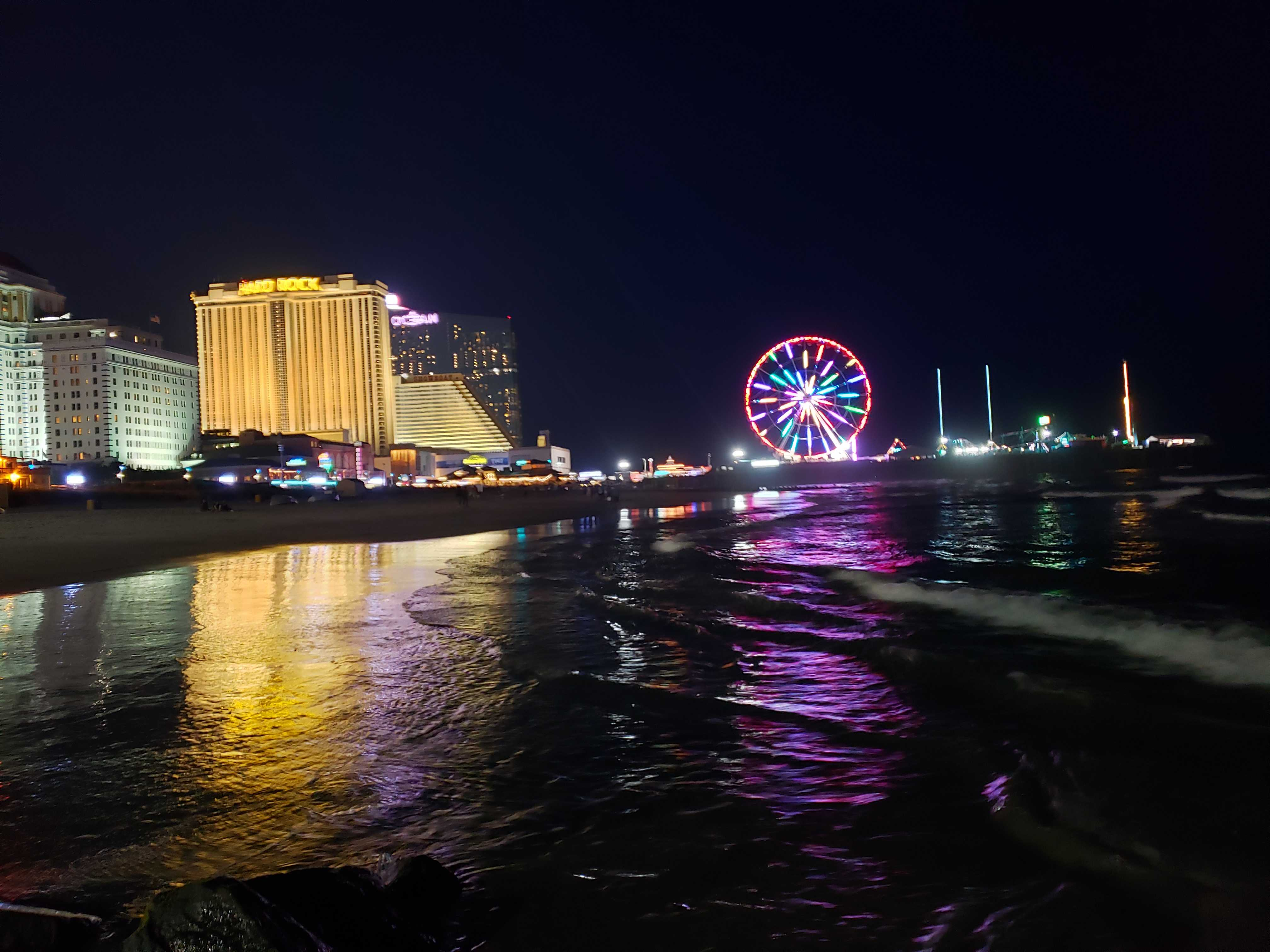 World famous ferris wheel at Atlantic City Beach, right down the boardwalk from City House Atlantic City